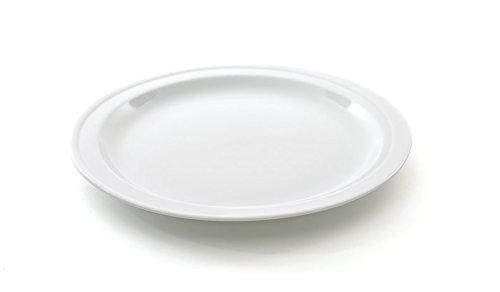 Berghoff Bianco Assiette en Porcelaine vitrifiée, Blanc, 21.5 cm, 26 cm
