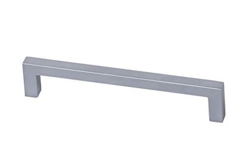 Gedotec Design Schrankgriff Chrom matt Möbelgriff Küche Schubladengriff Modell HALI | Bohrabstand 96 mm | 1 Stück mit Schrauben