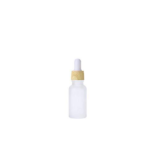 iKulilky Witte flesjes voor vloeistof, flesjes pipetteren, druppelfles, glazen fles met etherische olie vloeistoffles flesje monstercontainer - 5 ml