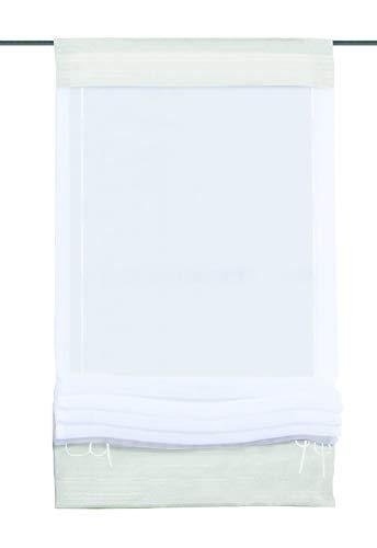 Home fashion 57105-801 rolgordijn, Univoile, 140 x 45 cm, wit