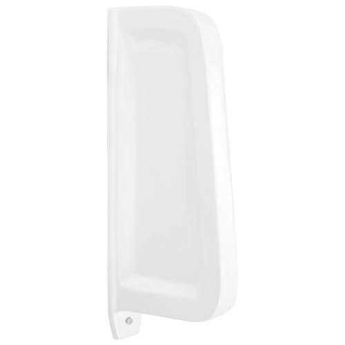 vidaXL Wall-mounted Urinal Privacy Screen Ceramic White Divider P