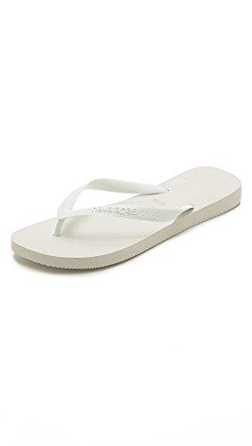 Havaianas Women's Slim Crystal Glamour SW Sandal Flip Flop, White, 5-6