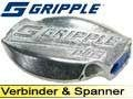 Gripple 5X Drahtverbinder medium, Ø 2,0-3,25mm Verbinder für den Weidezaun