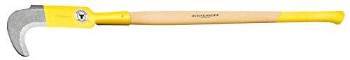 Ochsenkopf OX 70 E-0901 Zweihand-Kultursichel mit Eschenstiel Forstwerkzeuge, gelb, 117.5 x 16.0 x 3.5 cm