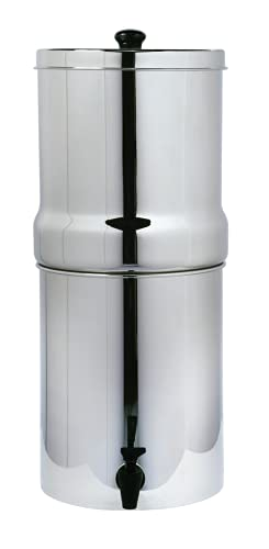 AquaHouse Stainless Steel Gravity Water Filter System, Fluoride & Heavy...