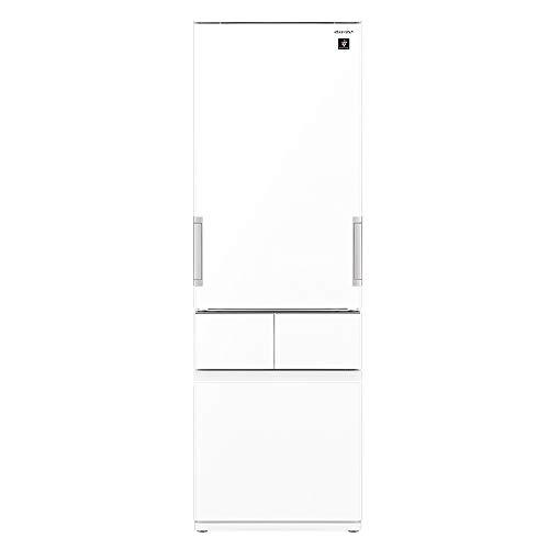 シャープ SHARP プラズマクラスター メガフリーザー 冷蔵庫(幅60.0cm) 415L 4ドア(両開き・どっちもドア) ピュアホワイト SJ-GT42E-W