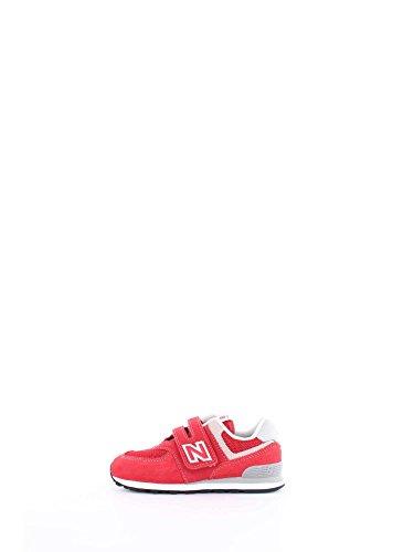 New Balance 574, Sneaker Unisex-Bambini, Rosso (Red/Grey), 21 EU