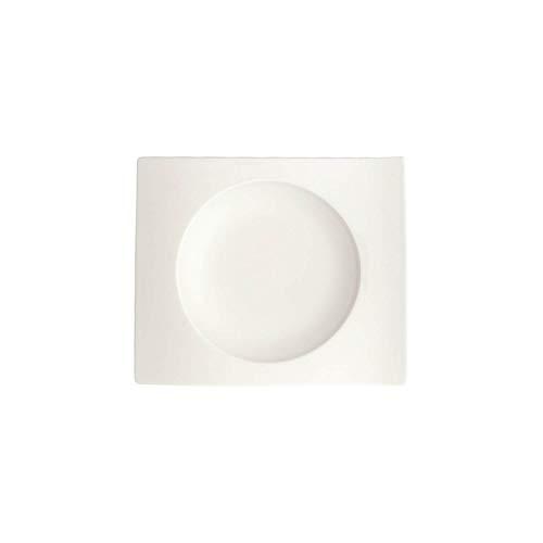 Villeroy & Boch NewWave Untertasse, 15 cm, Premium Porzellan, Weiß