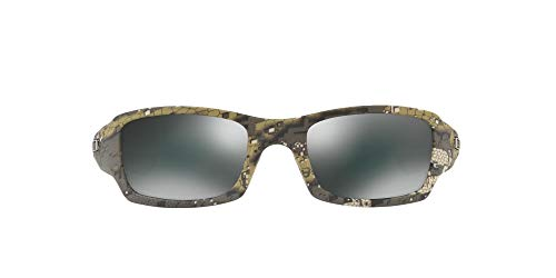 Oakley - Gafas de sol Rectangulares OO9238-07 para hombre, Polished Rootbeer/Dark Bronze (S3)