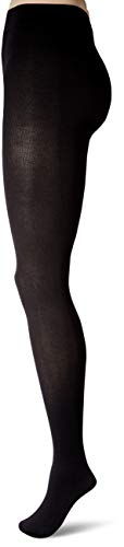 Hanes Silk Reflections Women's Plus Size Hanes Curves Blackout Tights, black, 3X/4X