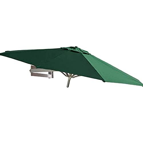 HXCD Ombrellone da Esterno Ombrellone da Parete per Esterno Giardino Balcone Baldacchino Ombrellone Telescopico Pieghevole Tenda da Sole Ombrello Alluminio, ؠ7 Piedi / 220 cm (Colore: Verde)