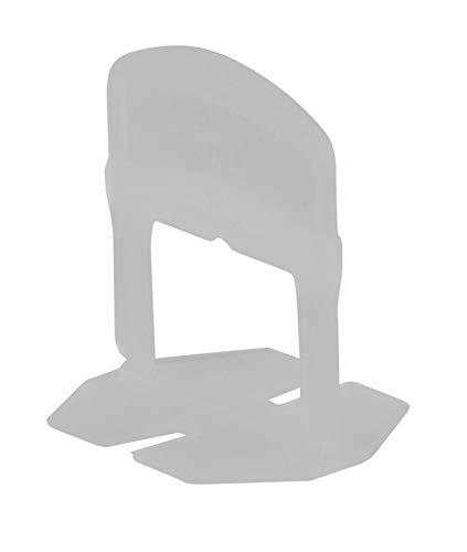 Fliesen Laschen 2mm 100 Stück für Fliesen Nivelliersystem 2mm | Fliesen Abstandshalter für 3-12mm Fliesen | Zuglaschen Nivelierset Fliesen Zubehör | Fliesen Verlegehilfe | Fliesenleger Werkzeug