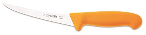 Giesser Messer Ausbeinmesser gelb 15 cm Klingenlänge gebogene und starke Klinge - stark/stiff - Profimesser