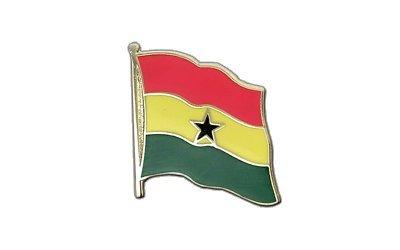 Ghana Flaggen Pin, ghanaische Fahne 2x2cm, MaxFlags®