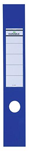 Durable 809006 Ordofix Ordnerrückenschilder (selbstklebend, mit Loch) Beutel à 10 Stück blau
