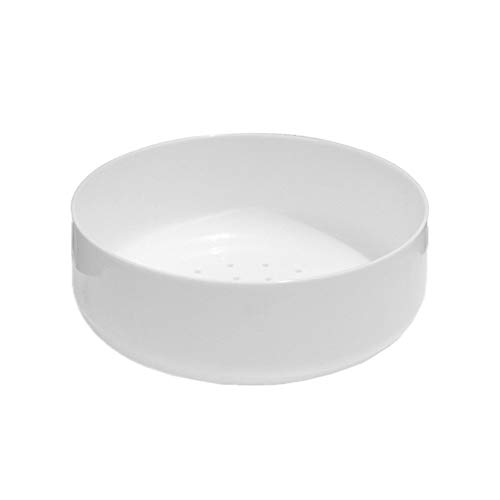 1Pc Bonsai Flower Pot Semplice Imitato Ceramica di plastica Creativa del Flowerpot Planter Contenitore for Giardino (Bianco) (Color : White)