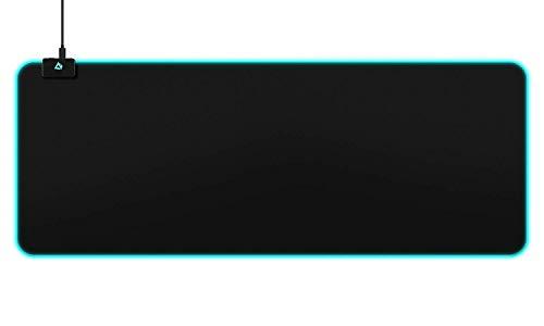 AUKEY Tappetino Mouse RGB Gaming Mouse Pad Grande con 10 Effetti Luce Preimpostati, 16,8 Milioni di Colori per Tastiera, PC e Laptop, 800x300x4mm