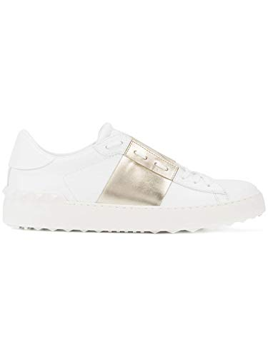 Luxury Fashion | Valentino Dames TW2S0781FLRL71 Wit Leer Sneakers | Lente-zomer 20