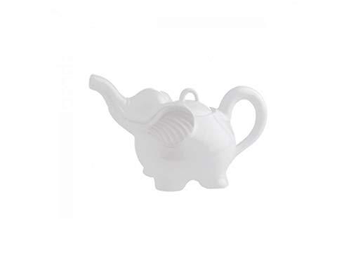 la Porcellana Théière éléphant, Blanche
