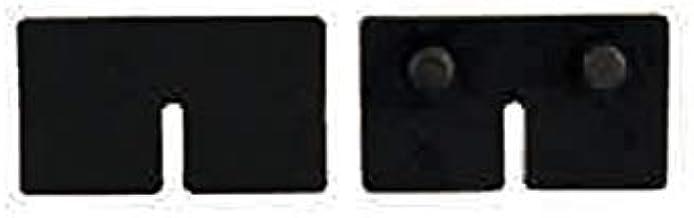 1 paar afdichting voor glasklem vierkant premium glas 8 mm