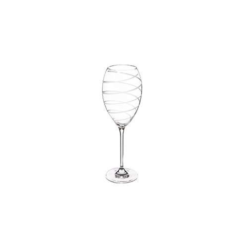 Lot de 4 verres à vin en spirale - 39 cl - Nera - Cristallin