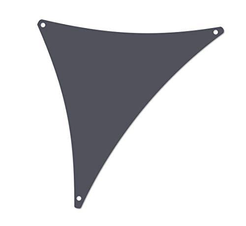 ALOHA Sonnensegel mit UV Schutz wasserabweisend Windschutz wetterschutz Garten und Terrasse (Graphit, Dreieck 1.2x1.2x1.7m)