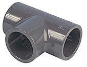 PVC T-Stück 90° 63 mm mit 3 Klebemuffen