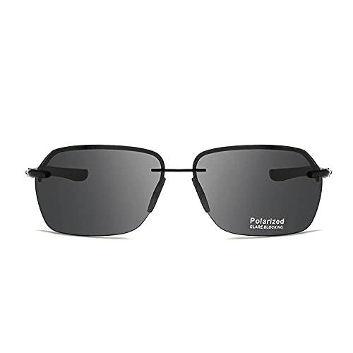 Gosunfly Gafas de sol polarizadas de metal, aluminio y magnesio, retro europeo y americano, negro tinta