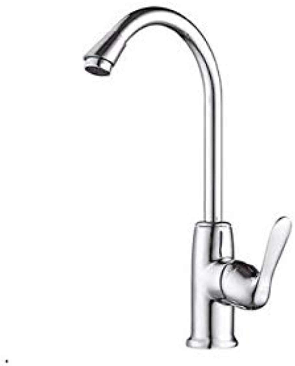 Kitchen Faucets Chrome Brass Single Handle 360 Degree redation Hot and Cold Water Tap