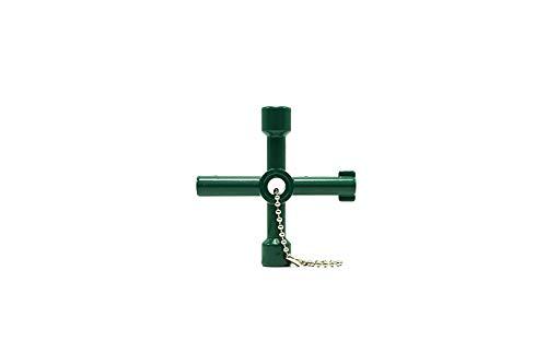 BCHSCB 4-way multi-funzionale utili chiave di per il gas elettronico acqua metro box armadio apertura chiave. (Green)