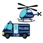 Applikationen - Kids and Hits - aufbügelbar Polizei farbig 2 St