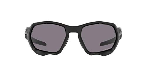 OO9019 Oakley Plazma Sunglasses, Matte Black/Prizm Grey Polarized, 59mm