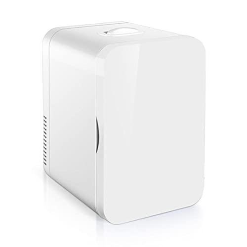 NOVHOME Mini Nevera Portatil Coche, Mini FrigoríFico de 8 L Con Una Puerta Refrigerador de Doble Uso para el Hogar y el AutomóVil para el Hogar el Dormitorio el Coche Las Bebidas la Comida