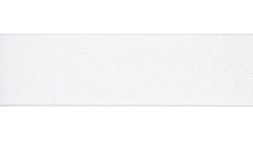 NTS Nähtechnik 50m Rolle Köperband, Nahtband aus 100% Baumwolle (weiß, 20mm)