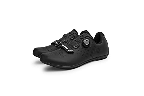Men's Mountain Road Cycling Shoes with Impact Resistant Toe Box for No Lock Flat Pedal Bike Black