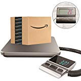 Postal Scale Heavy Duty Digital for Shipping and Postal with Durable Stainless Steel Large Platform, 440 lbs Capacity x 6 oz Readability, Postal Scale and Luggage Scale