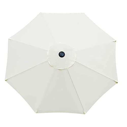 SJDWDX Toldo de repuesto para sombrilla de patio, para mesa de mercado, para exteriores, resistente y gruesa, con 6 varillas para jardín, terraza, patio trasero y piscina (blanco) 2.7m/8.9ft