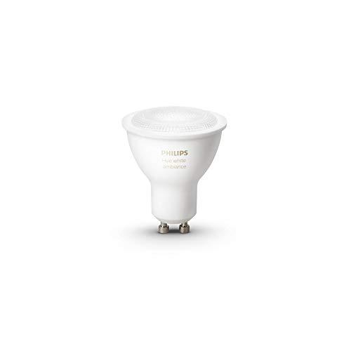 Philips- Bombilla Inteligente GU-10, Color Blanco (GU10-SINGLE-W)