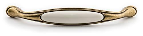 Poignée en porcelaine FORTE - 160 mm - Couleur crème - Florence - 26 x 37 x 195 - Qualité européenne depuis 1998