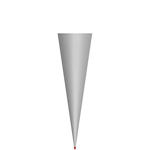 ROTH Schultüten-Rohling groß grau zum Basteln - 70 cm rund Rot(h)-Spitze ohne Verschluss