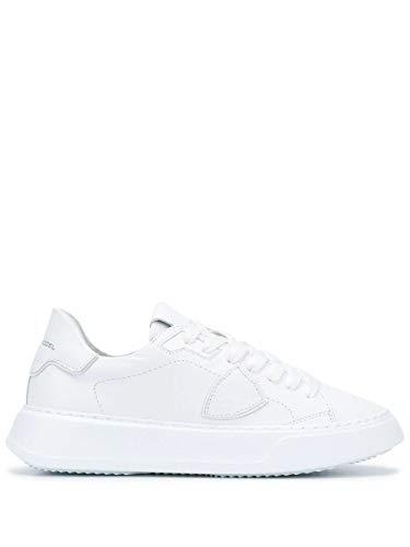 Philippe Model Luxury Fashion Donna BTLDV001 Bianco Pelle Sneakers | Autunno-Inverno 20