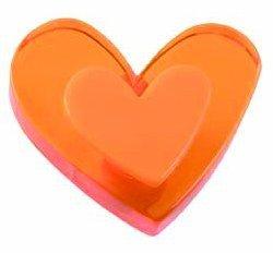 Lafinesse bouton de meuble motif cœur wendekreis schrankknopf, orange