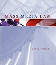 Mass Media Law, 2003 Edition, with Free Student CD-ROM 13th (thirteenth) edition Text Only