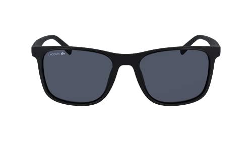 Lacoste Herren L882S Sunglasses, Black/Solid Grey, Einheitsgröße