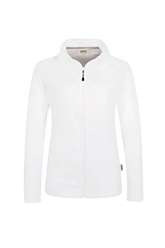 """HAKRO Damen Fleece-Jacke """"Delta"""" - 240 - weiß - Größe: M"""