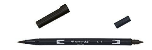 Tombow - Rotulador con doble punta, color negro