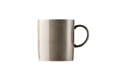 Thomas Sunny Day Becher mit Henkel, Kaffeetasse, Porzellan, Greige / Grau Beige, 300 ml, 15505