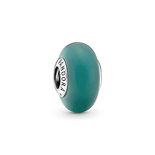 Pandora Abalorio de plata de ley de cristal de Murano verde mate, colección Pandora Moments 799555C00