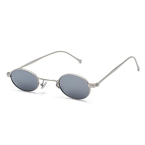 LUOXUEFEI Gafas De Sol Gafas De Sol Redondas Con Espejo Para Hombre, Pequeñas Gafas De Sol Ovaladas, Gafas Para Mujer