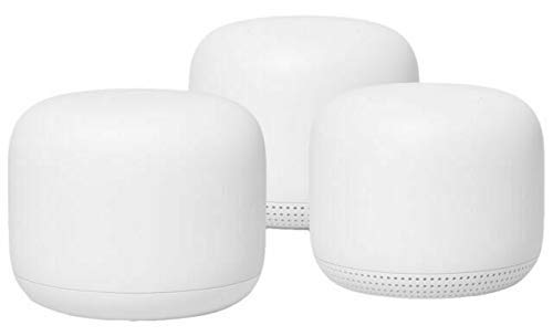 Google Nest WiFi Router 3 Pack ( One Router & Two extenders) 2nd Generation 4x4 AC2200 Mesh Wi-Fi Routers with 6600 Sq Ft Coverage (Renewed)